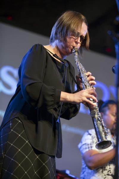 Ingrid Laubrock at Pioneer Works, July 30, 2021