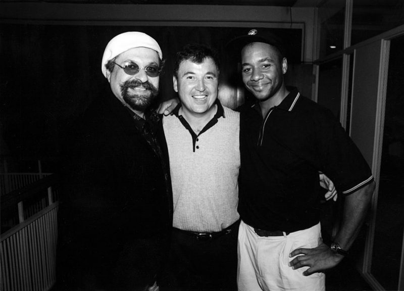 Joe Lovano and Branford Marsalis with Jazz Golf President Terry Hashimoto at the 2000 IAJE Conference