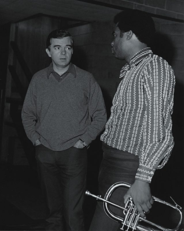 Impulse founder Creed Taylor talks to Freddie Hubbard in the late '60s