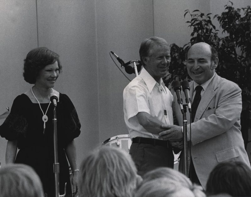 Jimmy Carter and George Wein