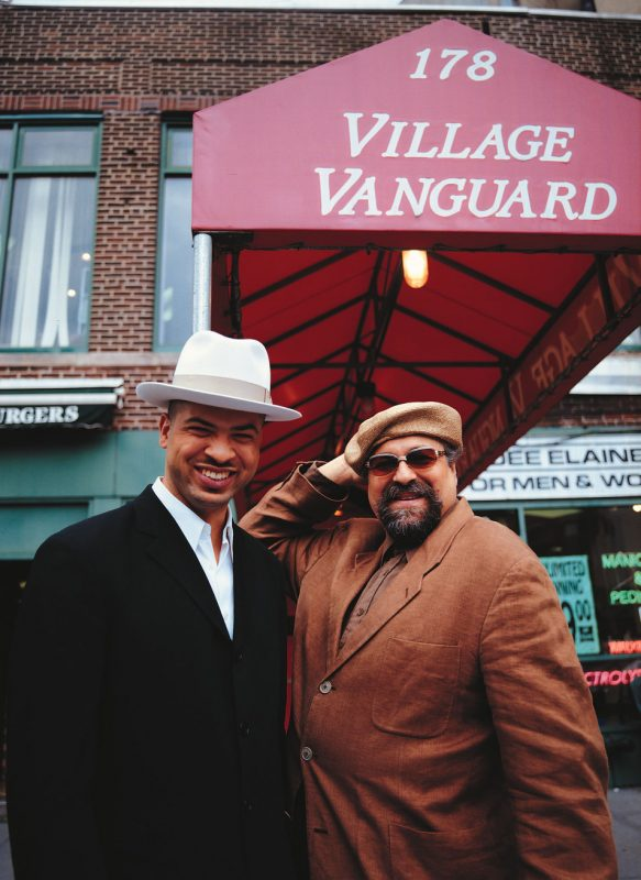 Joe Lovano and Jason Moran outside the Village Vanguard