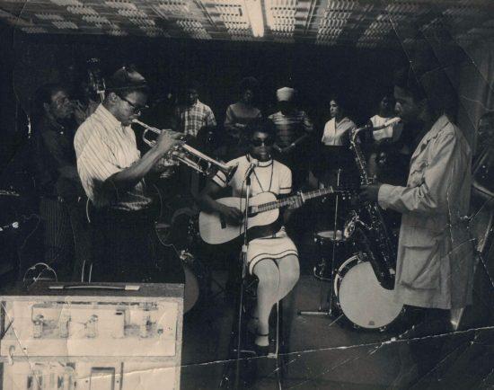 Eddie Gale on trumpet with his sister Joann on guitar image 0