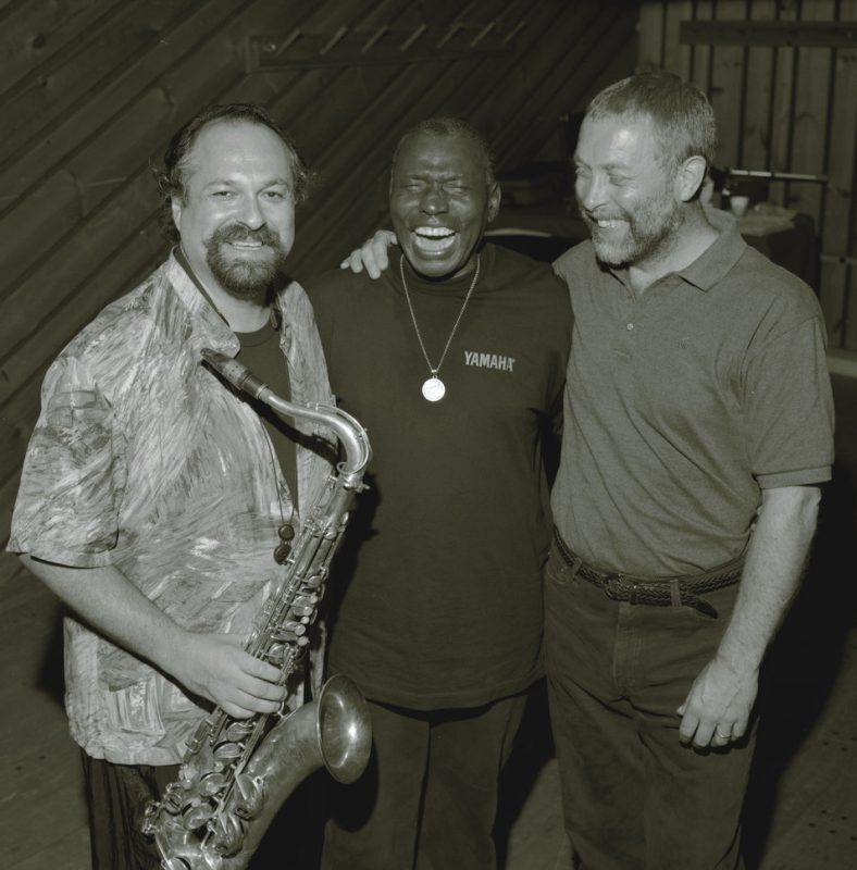 Elvin Jones with Joe Lovano and Dave Holland, Sept. 1998