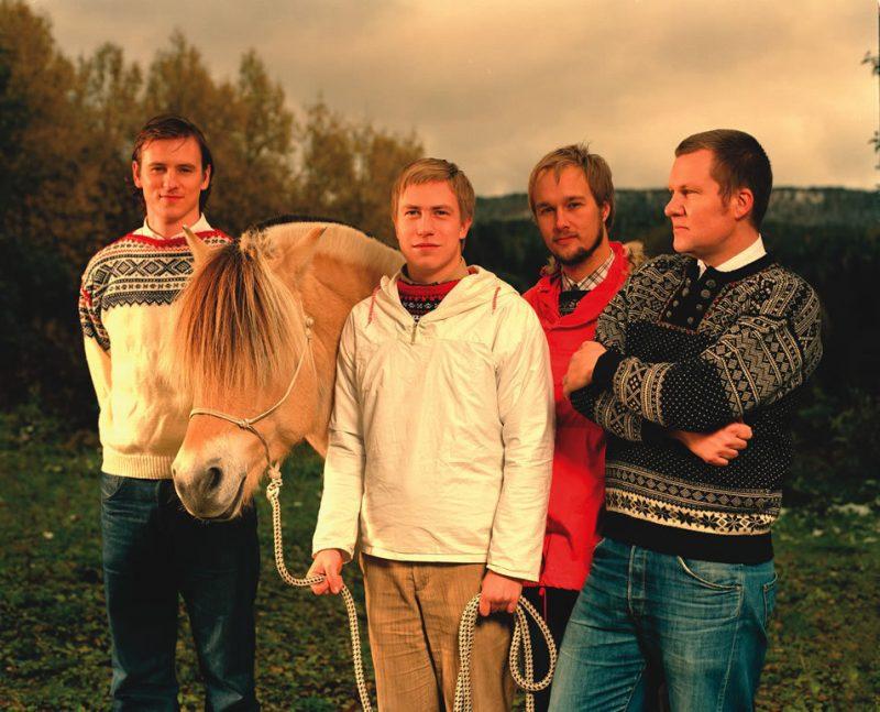 Bassist Per Zanussi, a horse and Wibutee saxophonist Hakon Kornstad