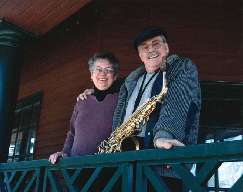Jill Goodwin with husband Phil Woods