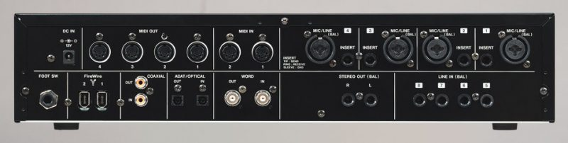 the back of the Tascam FW-1804