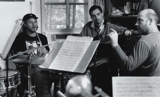 Guillermo Klein (right) with bassist Fernando Huergo image 0