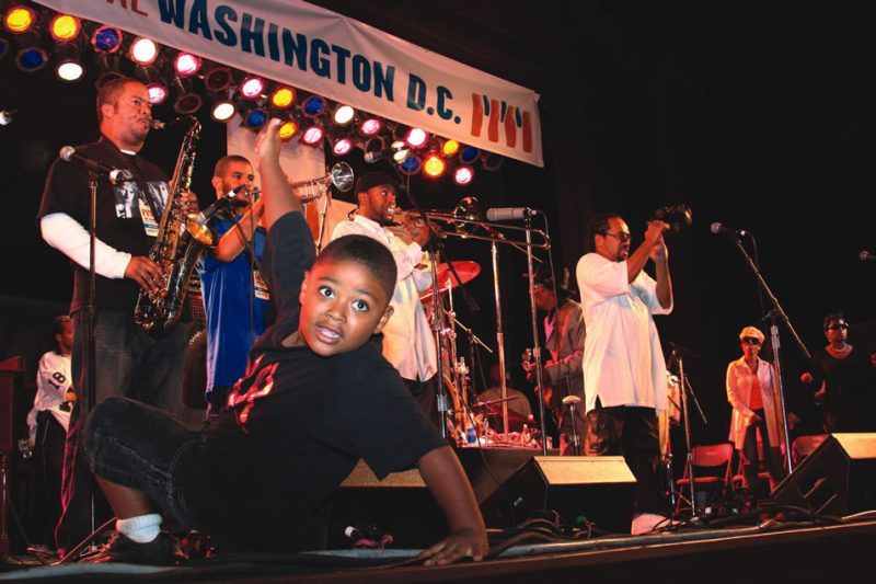 A young Washingtonian gets down to Chuck Brown at the first Duke Ellington Jazz Festival.