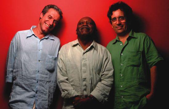Moacir Santos (center) with producers Ze Nogueira (left) and Mario Adnet image 0