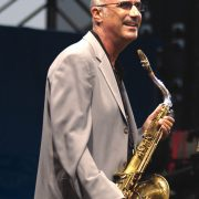 Micheal Brecker at the Newport Jazz Festival in 2004. image 0