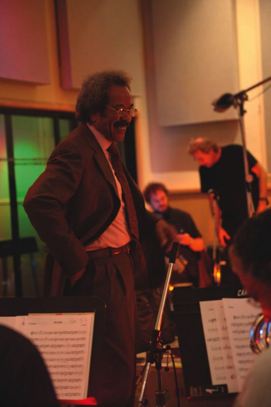 Allen Toussaint in the studio recording A River in Reverse