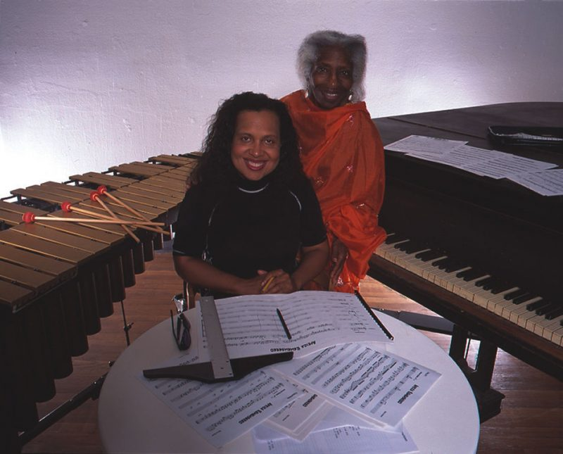 Vibraphonist/Composer Cecilia Smith with her inspiration