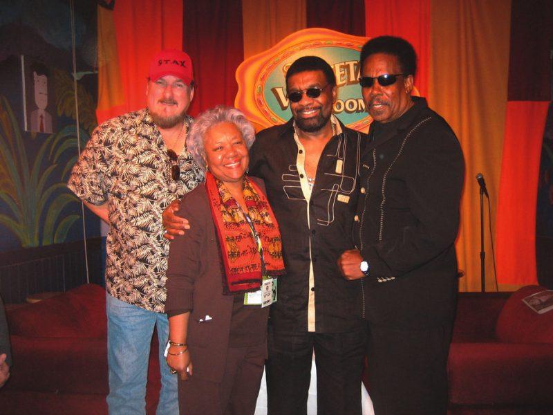 Stax legends reunited: (L-R) Steve Cropper, Deane Parker, William Bell and Eddie Floyd