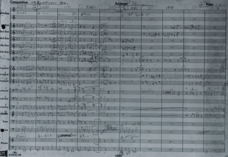 """Charles Mingus manuscript for the lost """"Inquisition"""" movement"""