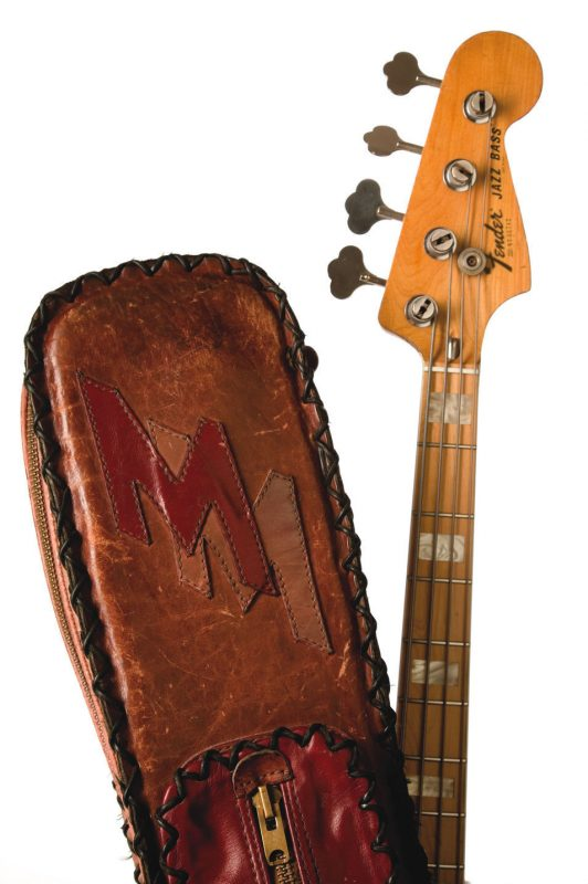 Marcus Miller's bass and case