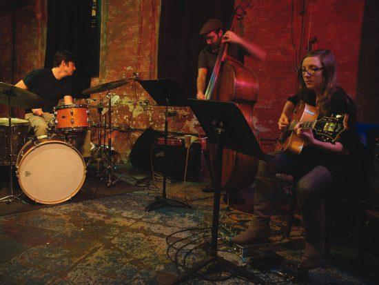 Mary Halvorson Trio (L to R): Ches Smith, John Hebert, Mary Halvorson image 0