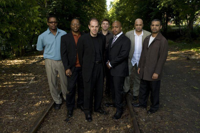 The Blue Note 7 (L to R: Ravi Coltrane, Lewis Nash, Bill Charlap, Peter Bernstein, Nicholas Payton, Peter Washington, Steve Wilson)