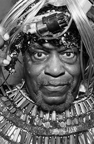 """Jazz pioneer, bandleader, mystic, philosopher, and consummate Afro-Futurist, Sun Ra, (born Herman Poole Blount 1914, Birmingham, Alabama, died 1993) and his personal mythology have grown increasingly relevant to a broad range of artists and communities. """"Pathways to Unknown Worlds: Sun Ra, El Saturn & Chicago's Afro-Futurist Underground, 1954-1968"""" presents a collection of paintings, drawings, prints, […]"""