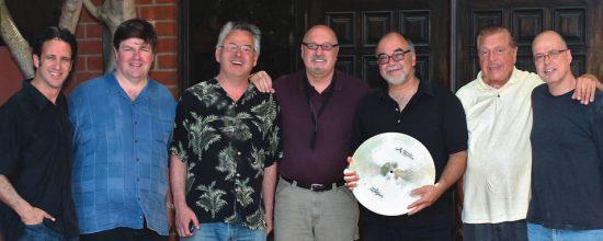 Frank Macchia's Saxolollapalooza crew (L-R): Eric Marienthal, Jay Mason, Sal Lozano, Frank Macchia, Peter Erskine, Gene Cipriano, Bob Sheppard image 0