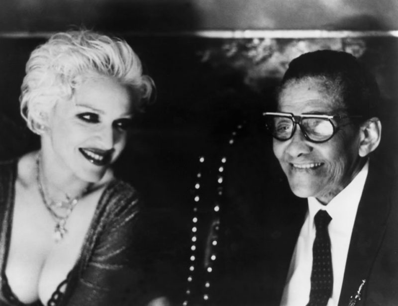"""Jimmy Scott appears with longtime admirer Madonna in her music video for """"Secret"""" in 1999. Madonna reportedly said of the jazz vocalist, """"Jimmy Scott is the only singer who'd ever really made me cry."""""""