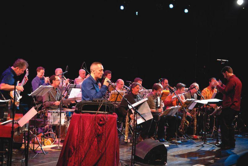 """John Hollenbeck in Philadelphia during his """"Big Ears"""" residency, 2009"""