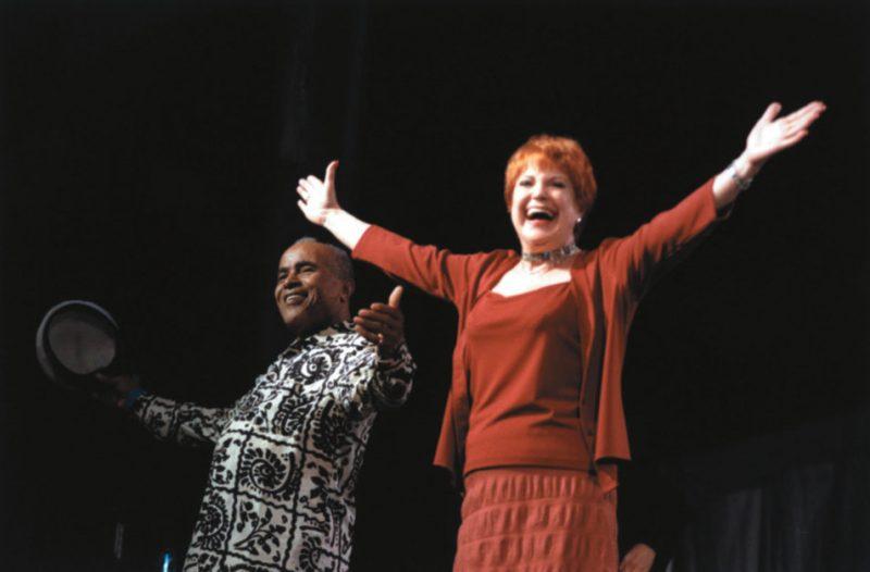 Jon Hendricks and Annie Ross at a Joni Mitchell tribute concert, New York 1999