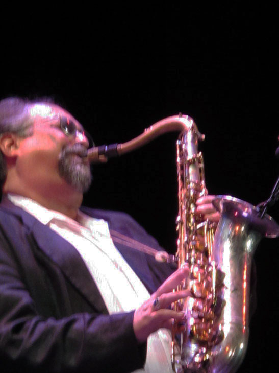 Joe Lovano in performance at the 2010 Panama Jazz Festival
