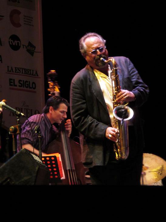 Joe Lovano and John Patitucci in performance at the 2010 Panama Jazz Festival