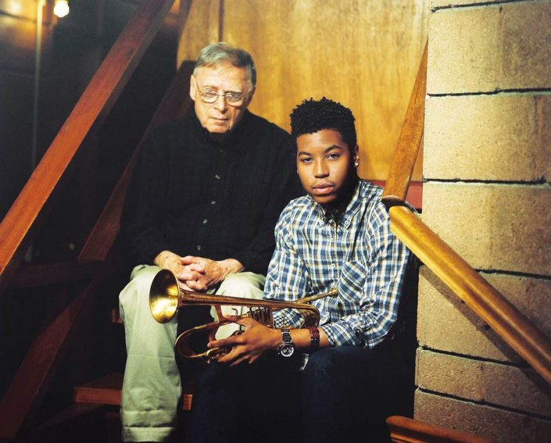 Rudy Van Gelder (left) and Christian Scott