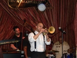 Irvin Mayfield performing with his group at 1st anniversary of his Jazz Playhouse club in New Orleans