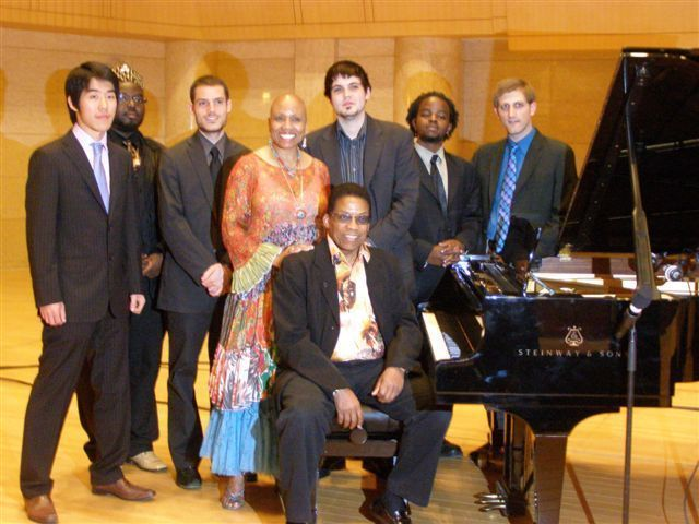 Herbie Hancock and Dee Dee Bridgewater headlined a concert at Beijing's Forbidden City Concert Hall, accompanied by the six college students who attend the Thelonious Monk Institute of Jazz Performance program at Loyola University New Orleans