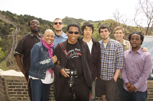 Dee Dee Bridgewater, Herbie Hancock and the Thelonious Monk Institute of Jazz Performance students visited the Great Wall of China during a U.S. Department of State Cultural and Education Tour of China, May 7 - 16, 2010