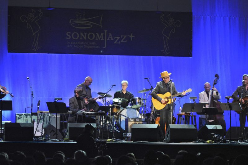 Elvis Costello in performance at Sonoma Jazz+