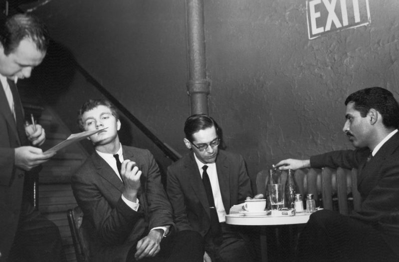 Producer Orrin Keepnews, Scott LaFaro, Bill Evans and Paul Motian (from left) make jazz history at the Village Vanguard in 1961