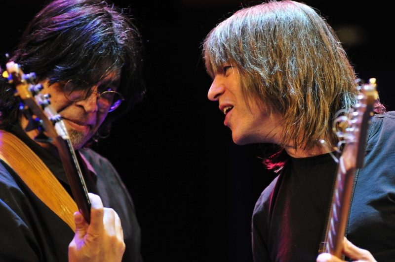 Jimmy Haslip of Yellowjackets with Mike Stern at Jazz at Lincoln Center