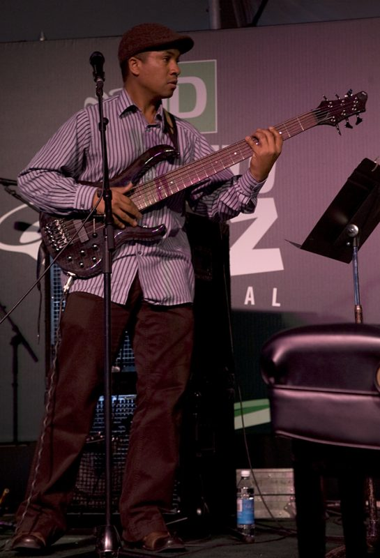 Bassist Roland Guerin performing with Allen Toussaint at Toronto International Jazz Festival