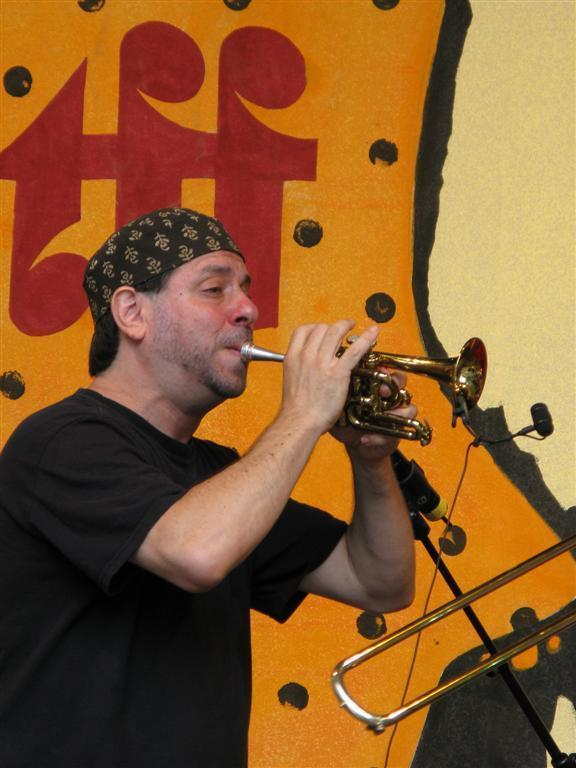 Frank London performing at the Roots Folk World Music Festival in Germany