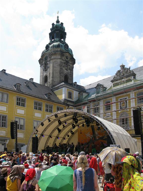 Stage in the courtyard of Castle Heidecksburg