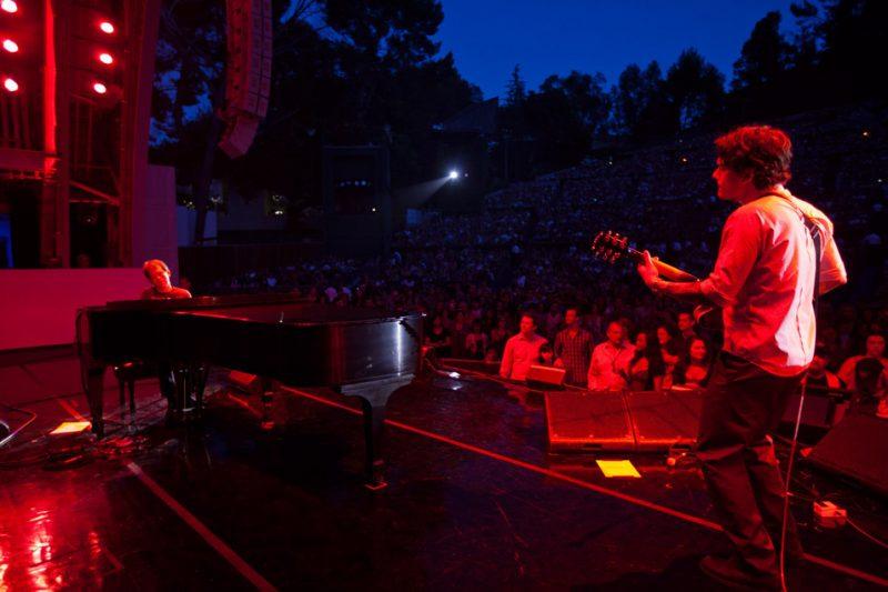 Brad Mehldau and John Mayer performing at Hollywood Bowl