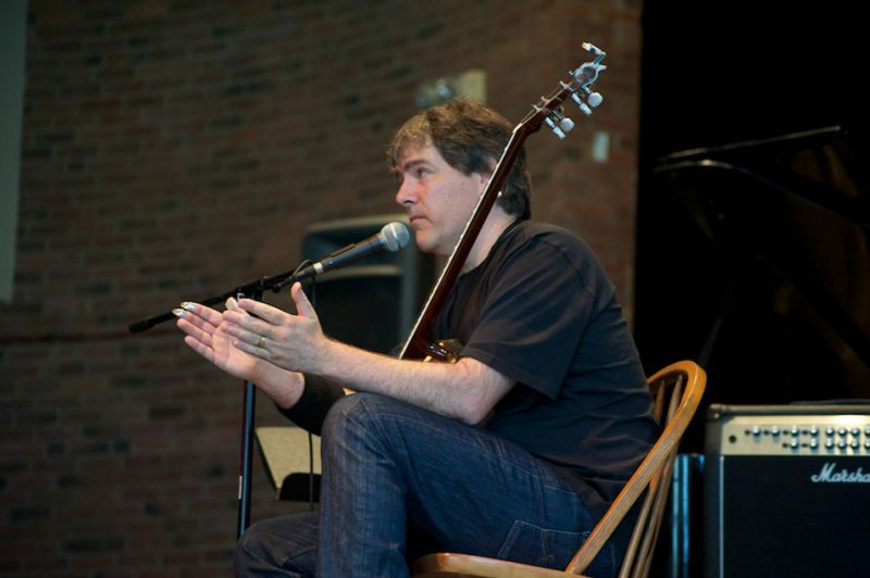 Bela Fleck gives a Master Class for Litchfield Jazz Campers and Litchfield Jazz Fest attendees.