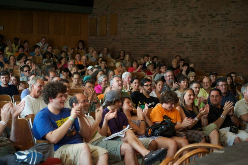 Audience at Bela Fleck Master Class at Litchfield Jazz Festival 2010
