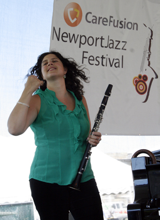 Anat Cohen at 2010 CareFusion Newport Jazz Festival