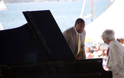 Wynton Marsalis and Dave Brubeck at 2010 CareFusion Newport Jazz Festival
