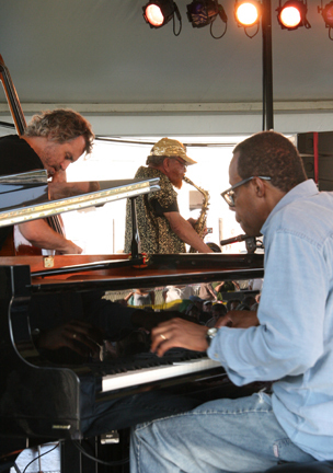 Joe Morris, Marshall Allen & Matthew Shipp at 2010 CareFusion Newport Jazz Festival