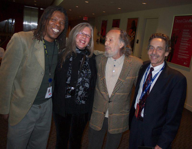 Mark Ruffin, Kris King, Herman Leonard and Scott Thompson at Jazz at Lincoln Center