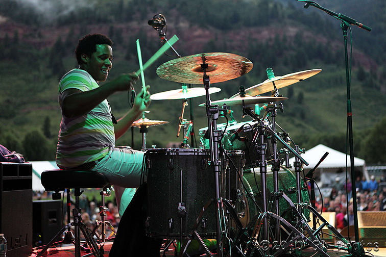 Ronald Bruner, Jr. performing with Stanley Clarke at the 2010 Telluride Jazz Celebration
