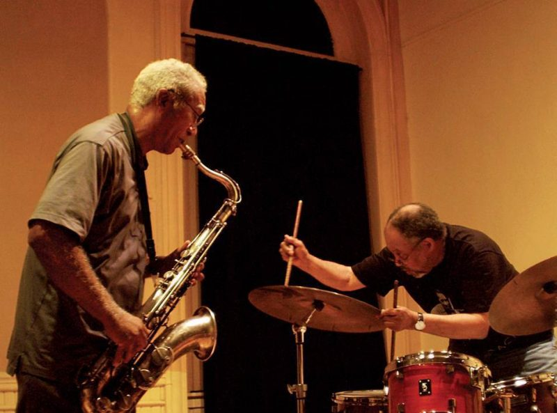 Kidd Jordan and Alvin Fielder at An Die Musik in Baltimore, Md.