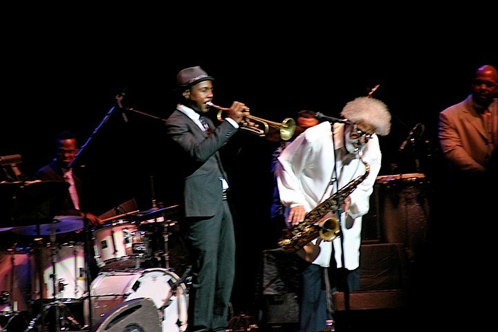 Roy Hargrove and Sonny Rollins in performance at Beacon Theatre