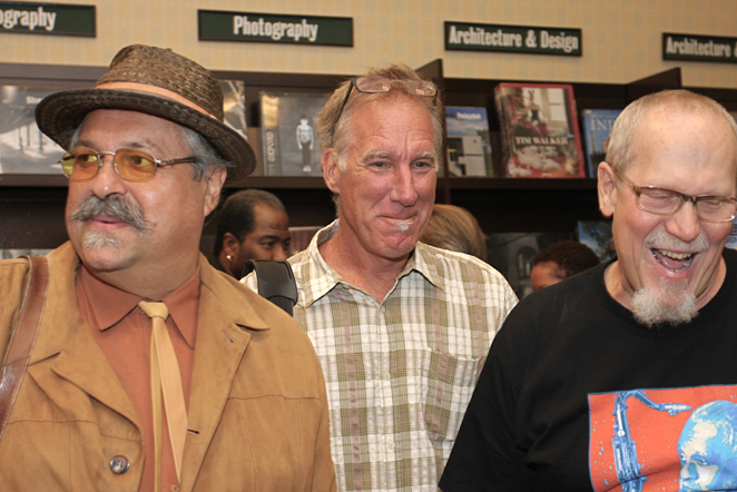 Joe Lovano, Jim Macnie and Dale Fitzgerald at Saxophone Colossus book signing in NYC