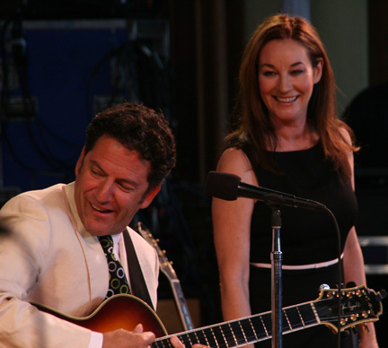John Pizzarelli and Jessica Molaskey at 2010 Tanglewood Jazz Festival